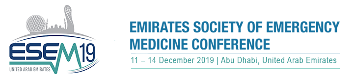 EMIRATES SOCIETY OF EMERGENCY MEDICINE CONFERENCE  11th - 14th December, 2019 Jumeirah at Etihad Towers, Abu Dhabi, UAE
